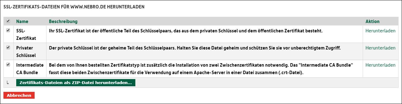 SSL-Zertifikat von DomainFactory auf IIS einbinden