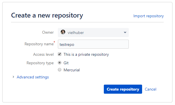 bitbucket history clean