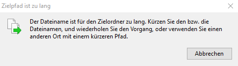 Lange Dateinamen unter Windows 10